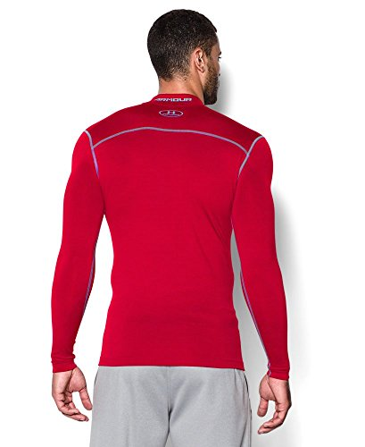 Under Armour Men's ColdGear Armour Compression Mock Long Sleeve Shirt, Red /Steel, XXX-Large by Under Armour (Image #1)
