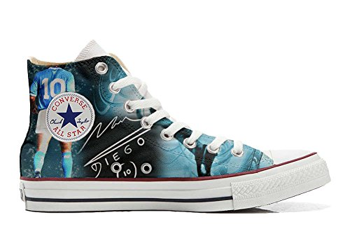 Converse All Star zapatos personalizados Unisex (Producto Artesano) world soccer