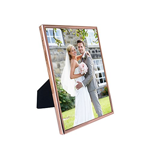 HUIXIANG 5x7 Inch Metal Picture Frame for Table top Display and Wall Mounting Thin Edge Plain Tarnish Resistant Photo Frames 7x5