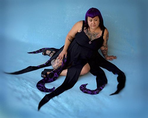 Octopus Dress, Ursula Cosplay Dress, Plus Size Swimwear, Sea Witch Dress for swimming, evening, or cosplay -