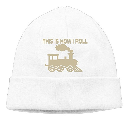 Amazon.com  PFL STORE The Fashion Beanie Hat This Is How I Roll Trainsoft  Hat Beanie Hats Trendy Warm Thick Chunky Oversized For Unisex  Sports    Outdoors 1288e5c5d195