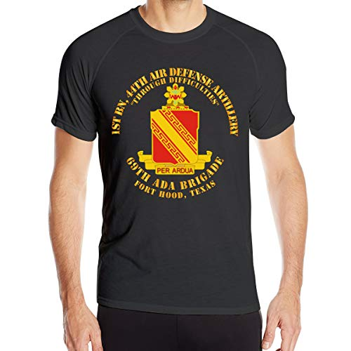 Chengduyatee Men's 1st Bn - 44th Air Defense Artillery REGT - 69th ADA BDE T Shirts Short Sleeve Quick Dry Athletic Tee Black