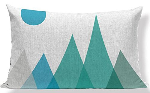 Elephant Deer Mountains Cotton Linen Throw Pillow Case Cushion Cover Home Sofa Decorative 18 X 18 Inch (33)