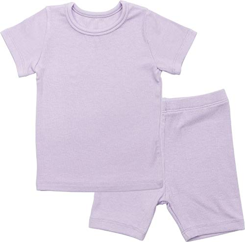 AVAUMA Newborn Baby Little Boys Snug-Fit Pajamas Summer Short Sets Pjs Kids Clothes (JL/Purple)