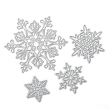 Geryy 1 juego de molde de repujado para Navidad, copo de nieve, corte de