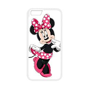 iPhone 6 Plus 5.5 Inch Cell Phone Case White Disney Mickey Mouse Minnie Mouse Fejke