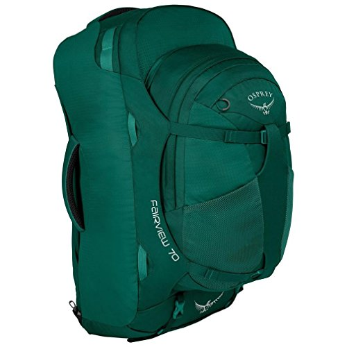 Osprey Packs Fairview 70 Women's Travel Backpack, Rainforest Green, Small/Medium (Best Packing Cubes For Osprey Farpoint 55)