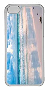 iPhone 5C Case, Personalized Custom Tropical Beach 8 for iPhone 5C PC Clear Case