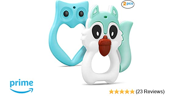 Baby Teething Toys Infant Toys Soft Silicone Natural FDA Approved Teethers  for BPA Free 100% Silicone Relieves Baby Teething Itching Molar Toddler Toys  ... ffb2b3168
