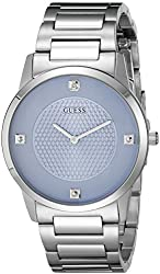 Guess Men's U0428g2 Diamond-accented Stainless Steel Watch