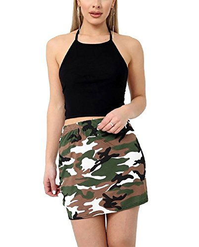 Fashions 3Xl Mini Dames Courte Islander Print Womens Imprim Jupe S Party Porter Stretch Camouflage Fantaisie lastique Jupe dqX067Xw