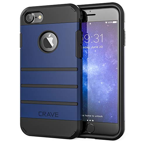 iPhone 8 Case, iPhone 7 Case, Crave Strong Guard Heavy-Duty Protection Case for Apple iPhone 8/7 (4.7 Inch) - Navy