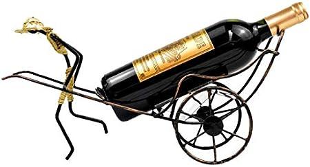 Homyl Estante de mesa decorativo del soporte del contrapeso de la bicicleta del estante del vino de la bicicleta