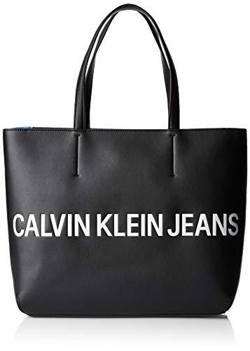 messenger nero Donna Borsa K60k605246 Calvin Klein scolpita Jeans Nero q1wZIaP