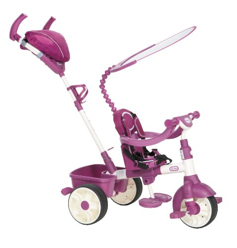 Little Tikes 4-in-1 Trike Ride On, Pink/Purple, Sports Edition