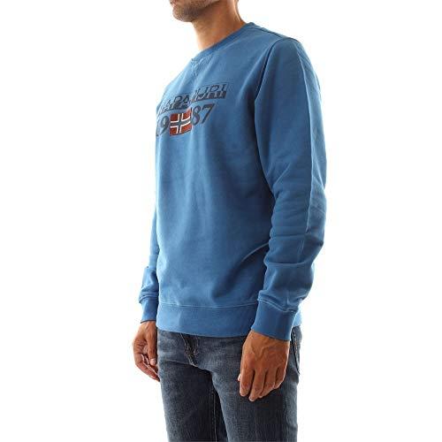 Bluette Sweat N0YI7Y Homme Crew Shirt BERTHOW Logo Napapijri xq0ItI