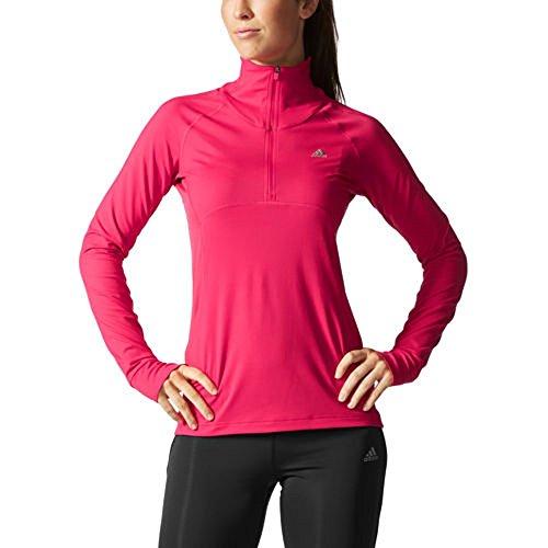 Adidas® Ladies' ½ Zip Pullover-Berry, Medium