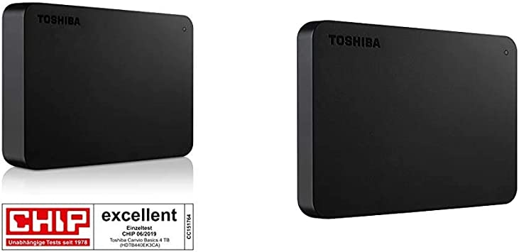 Toshiba Canvio Basics - Disco Duro Externo, 2.5 Pulgadas (6.4 cm), Negro, 4 TB + Canvio Basics, Disco Duro, 2 TB, Negro: Amazon.es: Informática