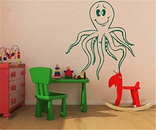 Quotes Art Decals Vinyl Removable Wall Stickers Octopus Wall Decal for Nursery Kids Room