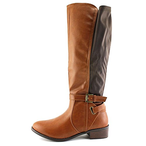 Rampage ILITE, Fashion Stiefel Frauen, Pumps rund Cognac/Dark Brown