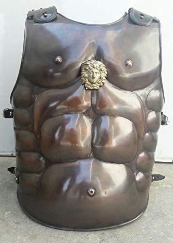 ieval Roman Greek Muscle Body Armor Cuirass Heavy Guage Antic Copper ()