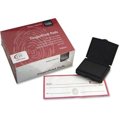 LEE Inkless Fingerprint Pad, 2-1/4 x 1-3/4 Inches, Black, 23/Dozen (03127)