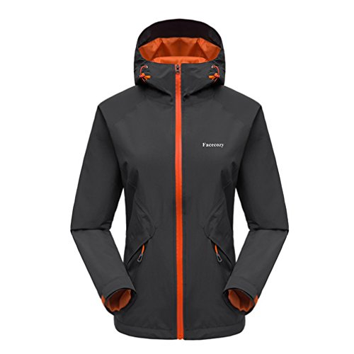 Price comparison product image Kacco Women Autumn Thin Hiking Camping Jackets Breathable Waterproof Hooded Windbreaker Fishing Trekking Coat Outdoor Jacket Black M