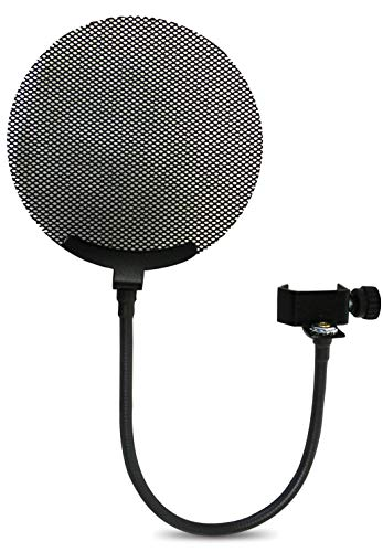 - Nady MPF-7 Microphone Pop Filter with All-Metal Mesh and 360-Degree Flexible Gooseneck