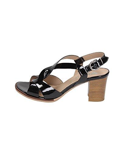 IGI & CO 18720 patentes negro talón de cuero zapatos de las sandalias de la mujer Nero