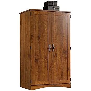 Beau Sauder Harvest Mill Computer Armoire, Abbey Oak Finish