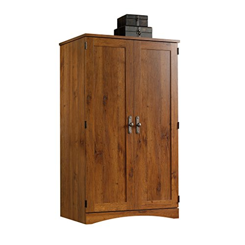 Sauder Harvest Mill Computer Armoire, Abbey Oak Finish (Office Armoire Hidden)