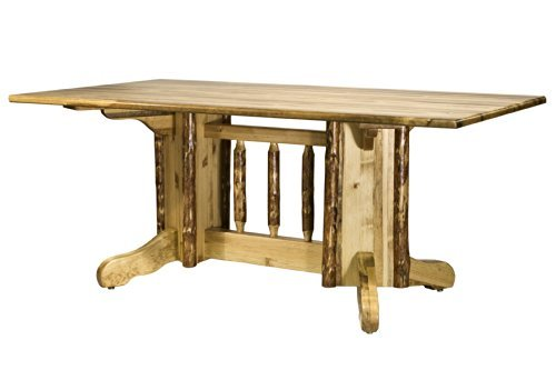 (Montana Woodworks MWGCDPTN Glacier Country Collection Double Pedestal Dining Table)