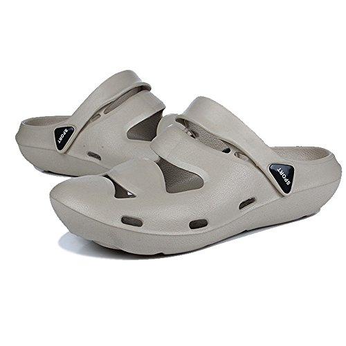 Casual Outdoor Beach Sandalias Confort Zapatillas Transpirable Alikeeyunisex Ducha Gris Antideslizante O1wSqAgnx5