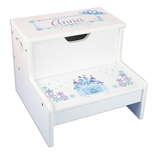 Personalized Winter Castle Storage Step Stool