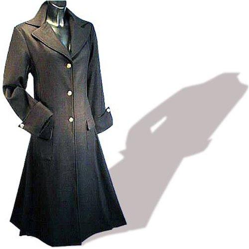 quality design 6d2f6 50bc6 Imex-Moden Gothic Mittelalter Damenmantel, Wolle, Baumwollfutter, schwarz,  Größen S - XXL