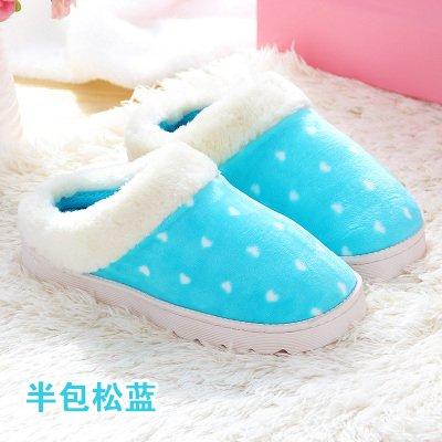 Cotone fankou mop è la casa della principessa cadere durante la primavera e autunno e inverno spesse pantofole di cotone insieme uomini e donne paio di pantofole di cotone ,41-42, metà blu di pino