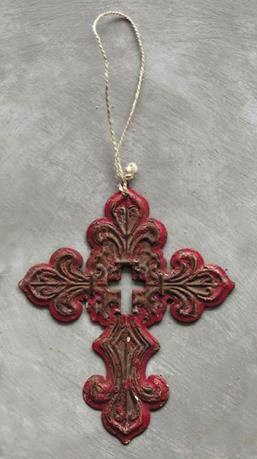 rustic-southern-red-iron-filigree-holy-cross-hanging-christmas-tree-ornament