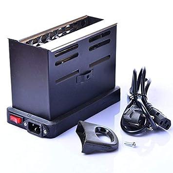 Kurphy Horno eléctrico de carbón de la Estufa del Calentador de la Parrilla de la cachimba Shisha Nargila del carbón de leña de 800W Hookah.