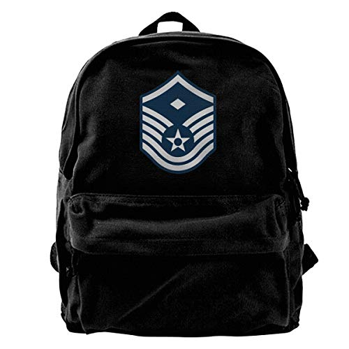 Air Force Master Sergeant 1st SGT Diamond Rank Travel Backpack For School Water Resistant Bookbag