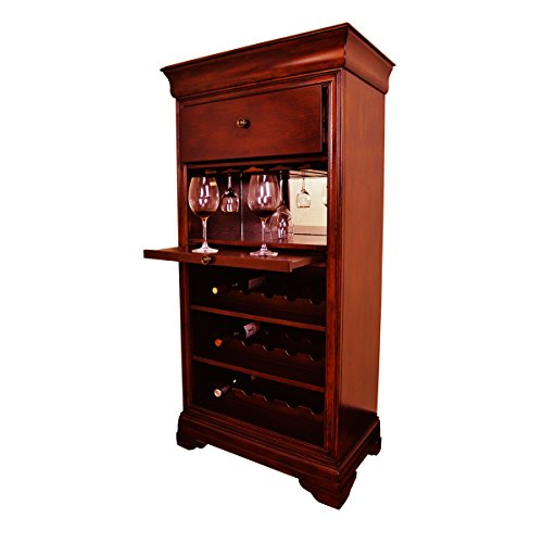 RAM Game Room Bar Cabinet, w/ Wine Rack, English Tudor