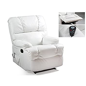 Contemporary Style Sillón relax con masaje blanco: Amazon.es ...