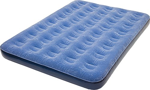 Pure Comfort Low-Profile Inflatable Air Mattress with External Air Pump, Full Sized Bed