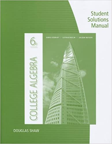 Student Solutions Manual for Stewart/Redlin/Watson's College Algebra