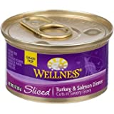 Wellness Sliced Canned Cuts Turkey and Salmon Adult Canned Cat Food, My Pet Supplies