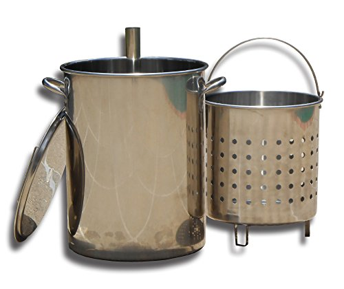 King Kooker KK30SRP 30 Quart Stainless Steel Turkey Skewer Pot with Basket & Lid ()