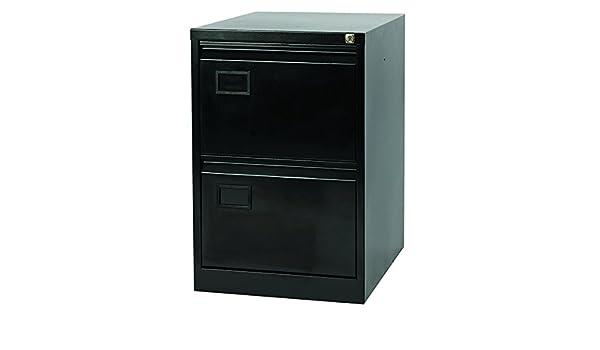 Jemini 2 cajón archivador, Metal, Negro, 62,2 x 47 x 71,1 cm ...