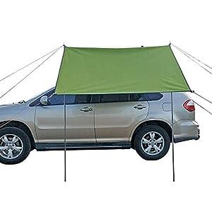 Toldo para coche, toldo para coche, impermeable, toldo para autocaravana, caravana, tienda de campaña, portón trasero, toldo, techo superior para SUV, Hatchback, minivan, sedán, camping, al aire libre