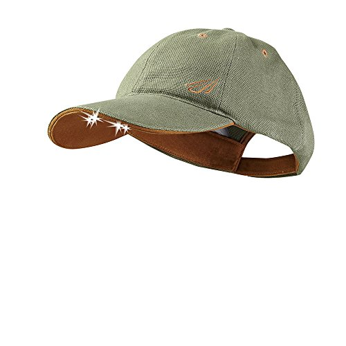 POWERCAP LED Hat 25/10 Ultra-Bright Hands Free Lighted Battery Powered Headlamp - Olive Unstructred Canvas (CUB4-0593)