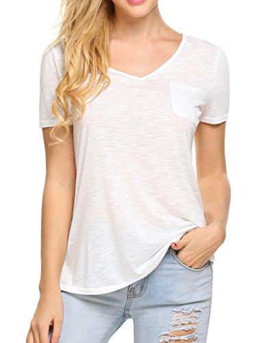 UNibelle Women's Short Sleeve Moisture Wicking Athletic Shirts Sizes S-XXL - Ladies Semi Sheer T-shirt
