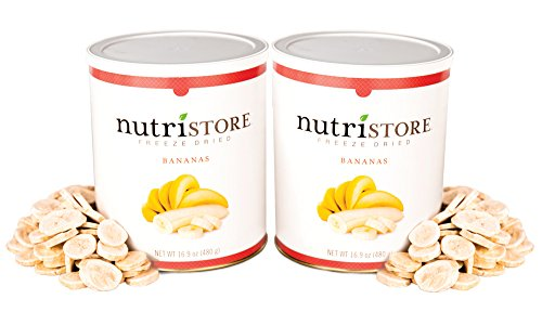 Freeze-Dried Bananas, 16.9 oz (Pack of 2) by Nutristore by Nutristore